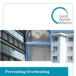 Preventing Overheating - GHA Research Project funded by DECC
