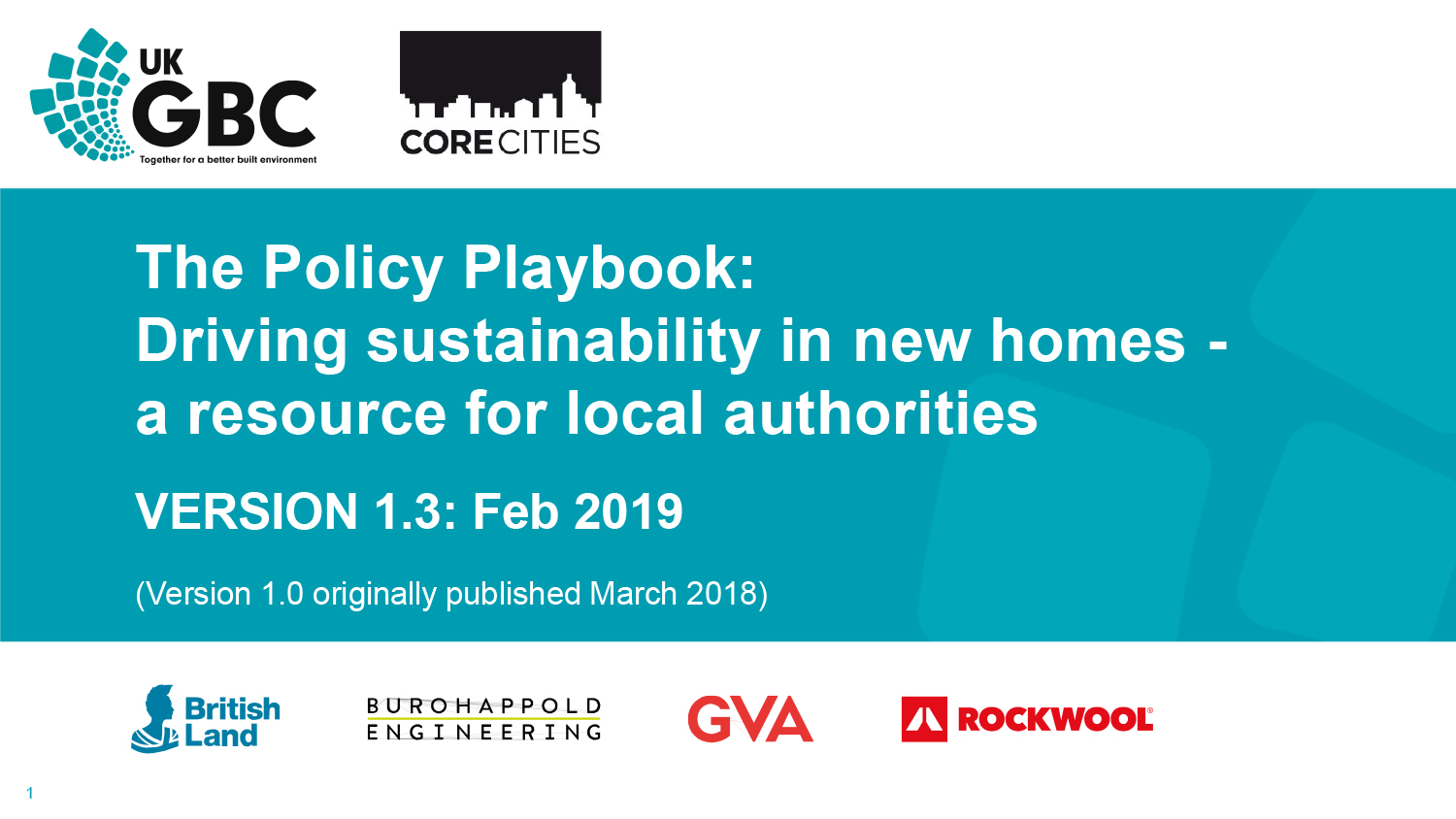 The Policy Playbook: Driving sustainability in new homes - a resource for local authorities