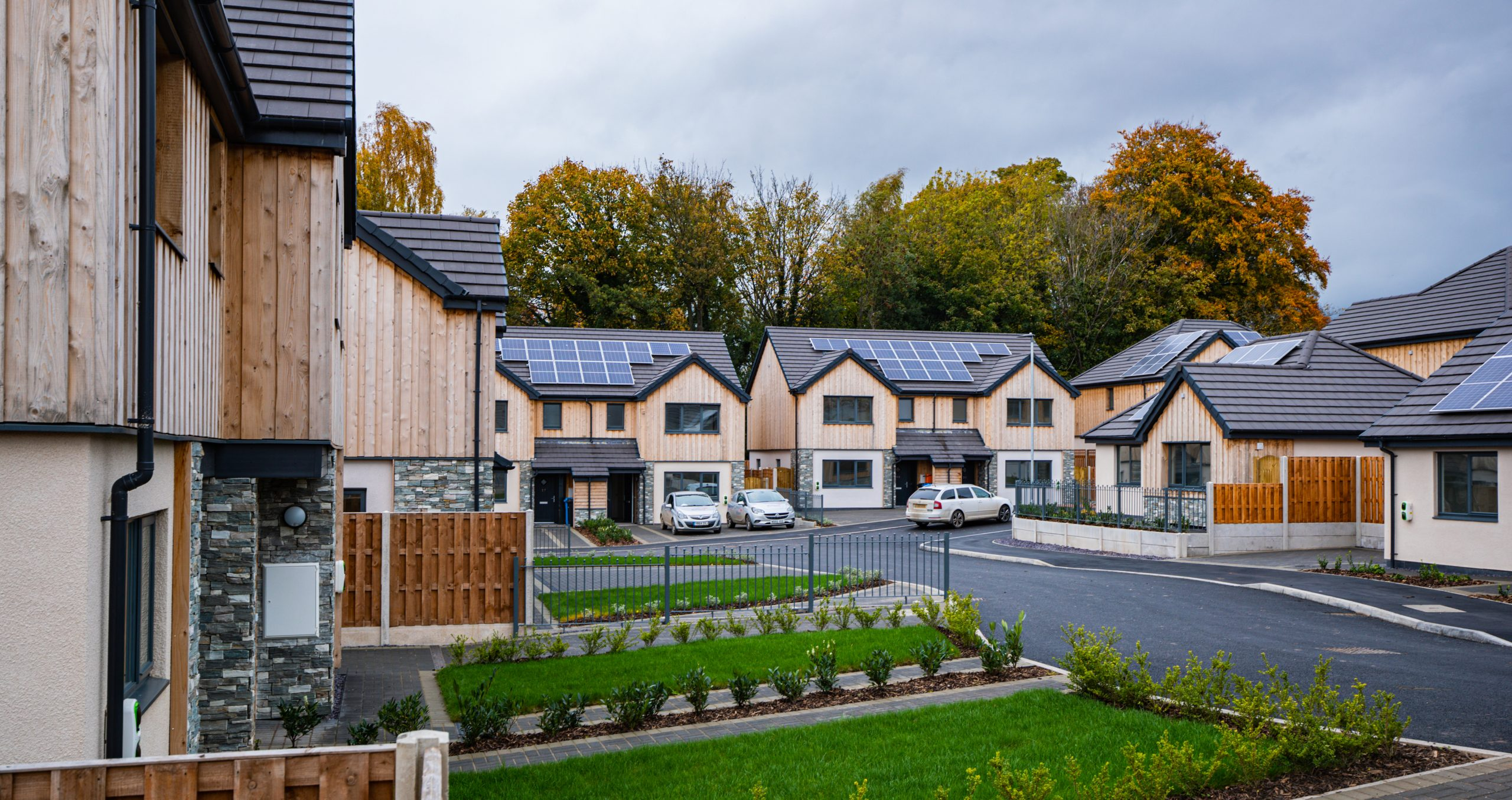ClwydAlyn affordable housing scheme in Llanbedr DC, Wales